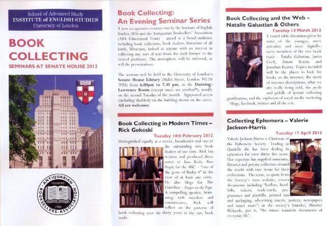Book Collecting Seminars 2012 (1)