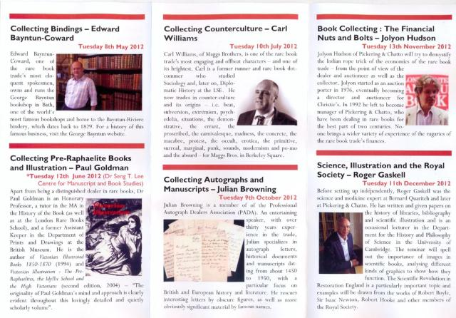 Book Collecting Seminars 2012 (2)