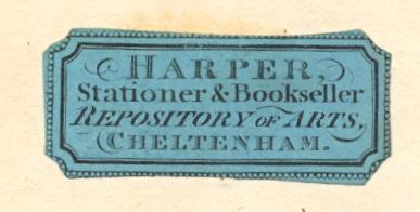 Harper's Repository of Arts - coloured label