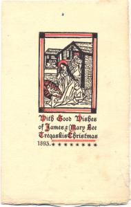 A Tregaskis Christmas Card 1893
