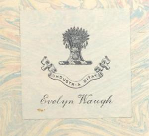 Evelyn Waugh Bookplate