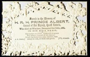 Prince Albert Memorial Card
