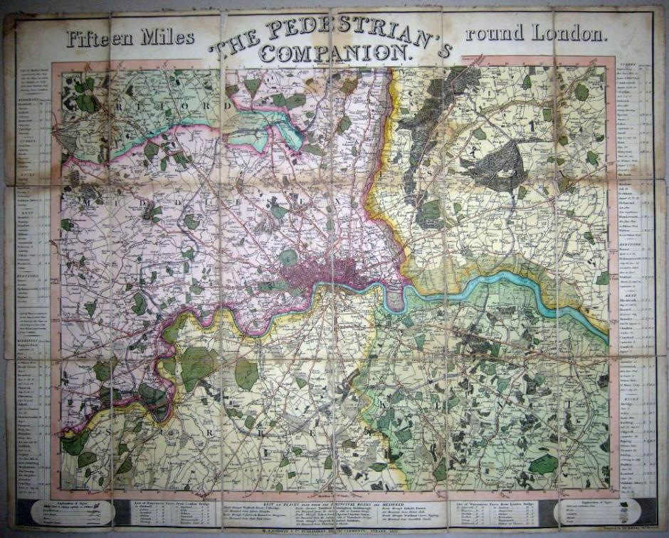 Sidney Hall Map of London