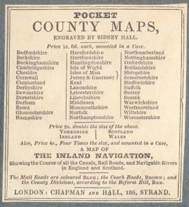 Pocket County Maps Sidney Hall