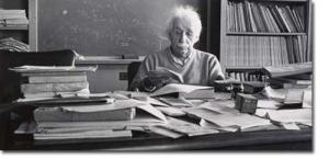 Einstein and Desk