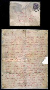 'Dear Boss' letter from Jack the Ripper. Letter to the Central News Agency, September 1888. © The National Archives.