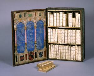 Travelling library of Sir Julius Caesar from Strawberry Hill, acquired in 1757 by Horace Walpole. Photography courtesy of British Library.