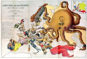 John Bull and his Friends : A Serio-Comic Map of Europe , 1900. ©Barry Lawrence Ruderman.