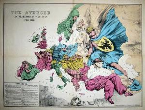 The Avenger : An Allegorical War Map for 1877. © Bryars & Bryars.
