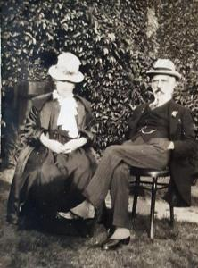 Bartholomew and Emily Robson at their home at Lifford Lodge, Addiscombe – about 1912. © Property of Felicity Fuller (Lang Family) – Emily Lang was a niece of Bartholomew Robson.