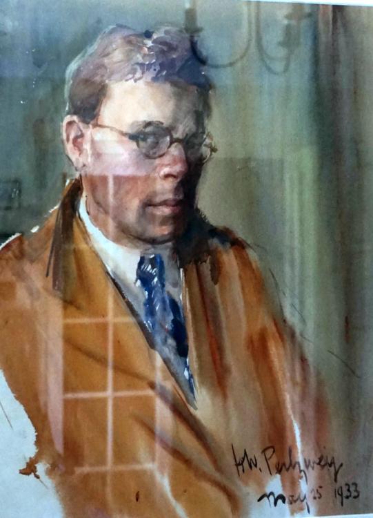 Hyman W. Perlzweig, Self Portrait. 1933. Courtesy of Debbie Hughes.