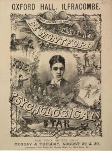 © The British Library Board.  Pressmark Evan.260.  – Oxford Hall, Ilfracombe.  Miss Annie de Montford, 1881.