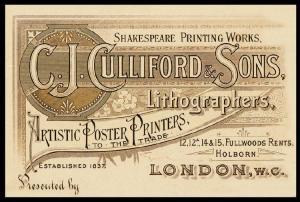 © Richard D.  Sheaff.  Trade-card of C.  J.  Culliford & Sons.