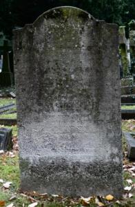 The Ellis grave in Teddington Cemetery.