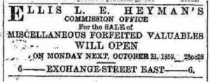 Liverpool Mercury, 27th October 1859.