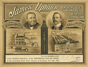 © Richard D.  Sheaff.  Jubilee invitation card of James Upton of Birmingham.