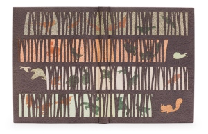 """Through the Woods"", binding by Yuko Matsuno."