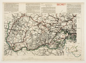 Schaffhausen Airey Neave escape map. London : The War Office, ca. 1940. BL Maps CC.5.a.424. © British Library Board.