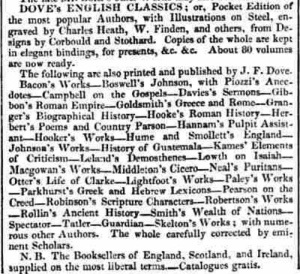Public Ledger and Daily Advertiser – Saturday 18th November 1826.