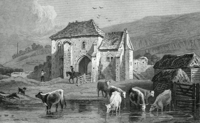 St. Martin's Priory, near Dover. Kent. 1829. Engraved by Samuel Lacey.
