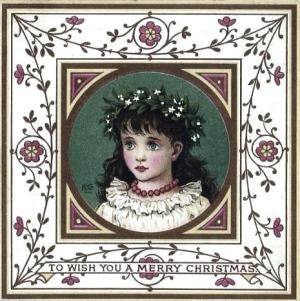 Kate Greenaway Christmas Card
