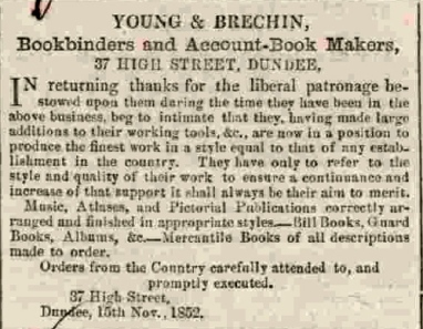 Dundee Courier, 24th November 1852. © British Library Board.