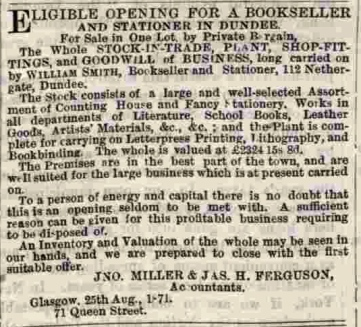 Dundee Courier, 28th August 1871. © British Library Board.