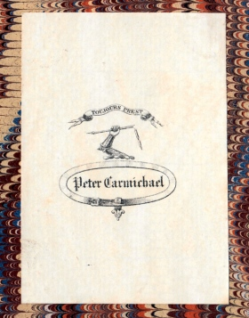 Armorial bookplate of Peter Carmichael.