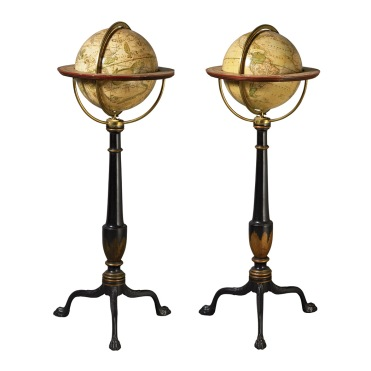 Pair of nine-inch globes by John Lothian. Edinburgh : 1828. © William Doyle Galleries, Inc. 2014.