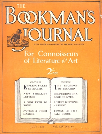 The Bookmans' Journal, July 1926.