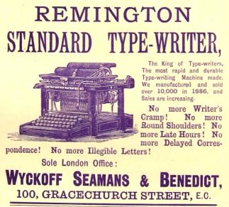 Remington Standard Type-Writer 1888
