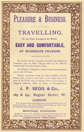 Advertisement for J. P. Segg & Co. 1888