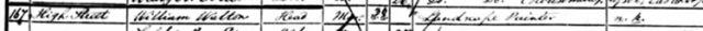 Extract from 1851 Census
