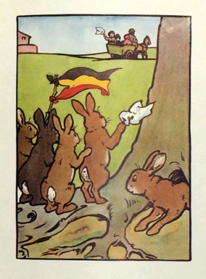 """""""Mrs Bunny's Refugee"""" from """"The Wonderful Bunnies and Silversuit"""" (1927)."""