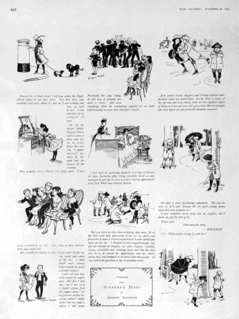 """Pages from Miranda's Diary - """"The Graphic"""", 26th December 1903. © The British Library Board."""