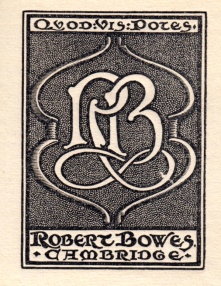 Robert Bowes' bookplate