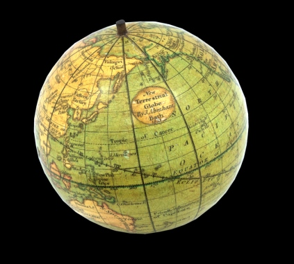 Jacob Abraham,New Terrestrial Globe. 1813. ©Daniel Crouch Rare Books